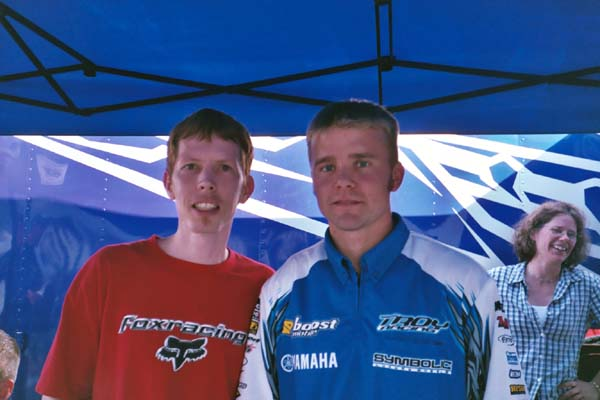 Danny Smith and Larry at Yamaha of Troy 2004