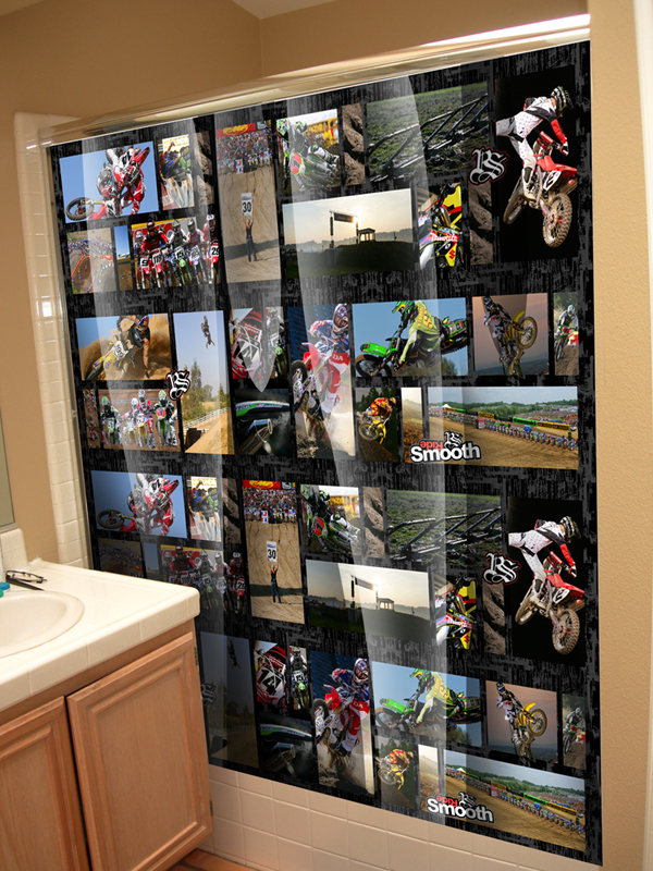 Throwin Down Motocross Shower Curtain