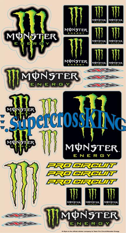 monster energy logo. Monster Energy Pro Circuit