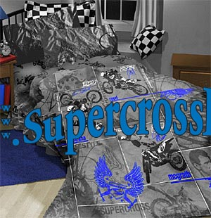 Motocross bedding set twin for Dirt bike bedroom ideas