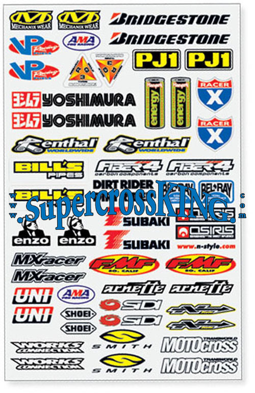 n style motocross industry stickers large 3