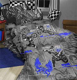 Motocross Bedding Set Full