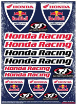 Honda Red Bull Racing Sticker Sheet
