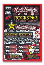 Rockstar Energy Hart and Huntington sticker kit 2009