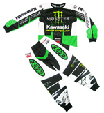 Monster Pro Circuit Kawasaki 2 Piece Replica Playwear