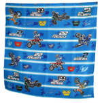 Motocross Cartoon Shower Curtain