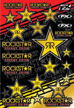 Rockstar Energy Sticker Sheet Gold Mylar