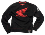 Honda Pitcrew Crew Neck Sweatshirt Black