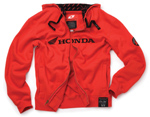 Honda 250 Zip Hooded Sweatshirt Red