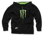 Kids Monster Energy Hooded Zip Sweatshirt Black