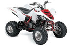 Yamaha Raptor 660R White Red