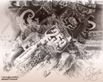 James Stewart Motocross Art Poster