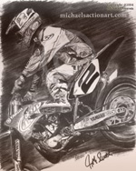 Jeremy Mcgrath Motocross Art Poster