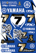 James Stewart Yamaha Sticker Kit 2009